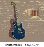 vector illustration with guitar ... | Shutterstock .eps vector #55614679