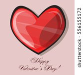 red heart classic valentines... | Shutterstock .eps vector #556155172