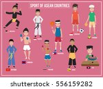 vector illustration of sport of ... | Shutterstock .eps vector #556159282