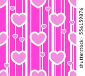 seamless pattern with heart.... | Shutterstock .eps vector #556159876