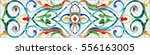 illustration in stained glass... | Shutterstock .eps vector #556163005
