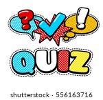vector quiz isolated logo....   Shutterstock .eps vector #556163716