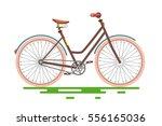retro bike. vector old bicycle... | Shutterstock .eps vector #556165036