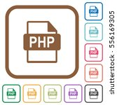 php file format simple icons in ... | Shutterstock .eps vector #556169305