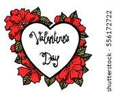 valentine heart decorative... | Shutterstock .eps vector #556172722