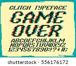 Glitch Typeface Game Over....