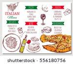 italian restaurant menu with... | Shutterstock .eps vector #556180756