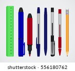 large collection of colored... | Shutterstock .eps vector #556180762