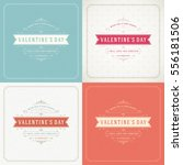 happy valentines day greeting... | Shutterstock .eps vector #556181506
