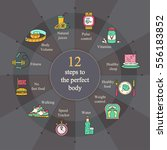 weight loss  diet infographics. ... | Shutterstock .eps vector #556183852