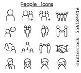 people icon set in thin line... | Shutterstock .eps vector #556184416
