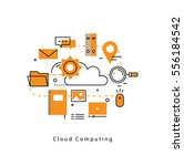 cloud computing and networking... | Shutterstock .eps vector #556184542