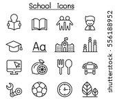 school   education icon set in...   Shutterstock .eps vector #556188952