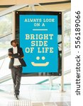 Small photo of optimistic quote: always look on a bright side of life
