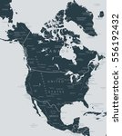 map of north america | Shutterstock .eps vector #556192432