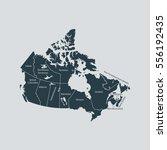 map of canada | Shutterstock .eps vector #556192435