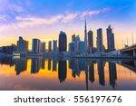 view on skyscrapers in modern... | Shutterstock . vector #556197676