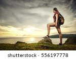 Happy Traveler With Backpack...