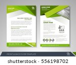 green annual report brochure...   Shutterstock .eps vector #556198702
