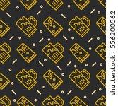 seamless beer pattern.... | Shutterstock .eps vector #556200562