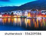 scenic summer evening panorama... | Shutterstock . vector #556209586