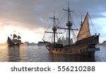 Sailboats On The Sea 3d...