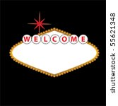 blank las vegas sign with empty ... | Shutterstock .eps vector #55621348