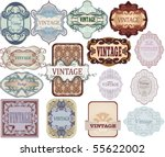 set of vintage  labels | Shutterstock .eps vector #55622002