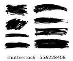set of black paint  ink brush... | Shutterstock .eps vector #556228408
