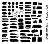 set of black paint  ink brush... | Shutterstock .eps vector #556228426