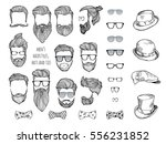 Hipster Set. Beards  Glasses ...