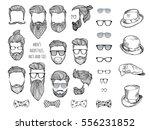 Hipster Set. Beards  Glasses ...