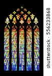 vector stained glass window... | Shutterstock .eps vector #556233868