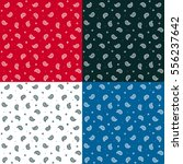 seamless bandana pattern set in ... | Shutterstock .eps vector #556237642