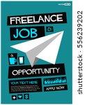 freelance job opportunity.... | Shutterstock .eps vector #556239202