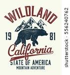 vintage california typography... | Shutterstock .eps vector #556240762