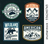 vector set of wilderness and... | Shutterstock .eps vector #556240765