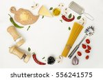 flat lay. fettuccine and...   Shutterstock . vector #556241575