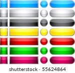 blank web glossy buttons.... | Shutterstock .eps vector #55624864