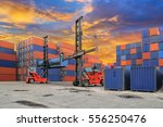 industrial container yard with... | Shutterstock . vector #556250476