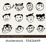 expression | Shutterstock .eps vector #55626649