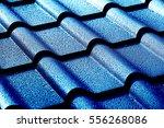 metallic roof with drops of... | Shutterstock . vector #556268086
