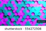 hexagonal vector background.... | Shutterstock .eps vector #556272508