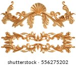 gold ornament on a white... | Shutterstock . vector #556275202