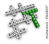 Alternative Green Energy (3D crossword cubes series) - stock photo