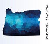 polygonal map of oregon   Shutterstock .eps vector #556283962