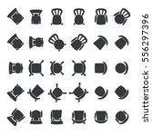 chairs seen from top view  each ... | Shutterstock .eps vector #556297396