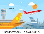 cartoon background with gray... | Shutterstock .eps vector #556300816