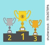 gold  silver and bronze winner... | Shutterstock .eps vector #556307896