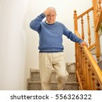senior man coming down the...   Shutterstock . vector #556326322